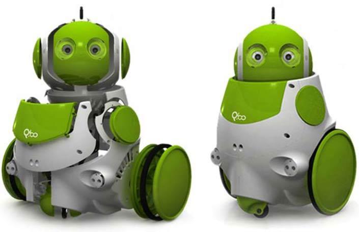 Qbo il robot che si riconosce allo specchio - Bambini che si guardano allo specchio ...